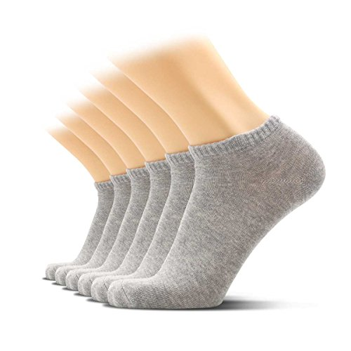 Womens Comfy Low Cut Athletic Cotton Socks, Soxtown 6 Pairs Pure Color Women's No Show Casual Socks
