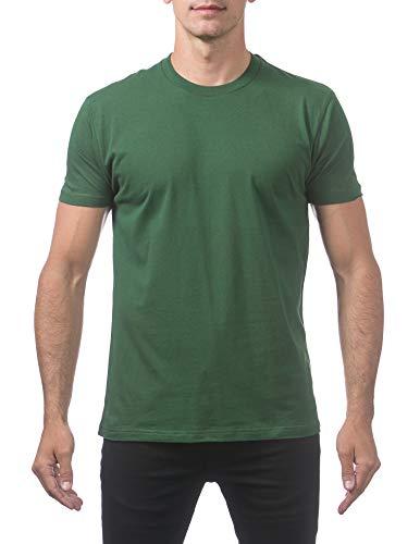 Pro Club Men's Premium Lightweight Ringspun Cotton Short Sleeve T-Shirt, Forest Green, Medium
