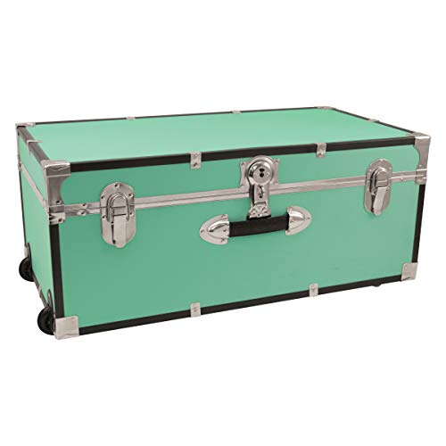 Seward Trunk 30-inch Footlocker Trunk with Wheels Teal by Seward Trunk Footlocker Trunk