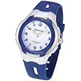 Kids Watch Girls Boys,Child Analog Waterproof Learning Time Wrist Watch Easy to Read Time WristWatches for Kids as Gift (Navy Blue)