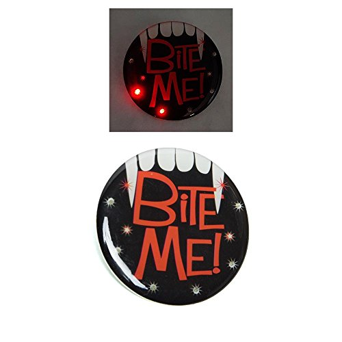 Kole Imports PA958 Halloween Flashing Bite Me Button