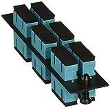 Hubbell HUBFSPSCDM6AQ Adapter Panel, 12-Fiber, 6 SC Duplex, Phosphor Bronze, Aqua