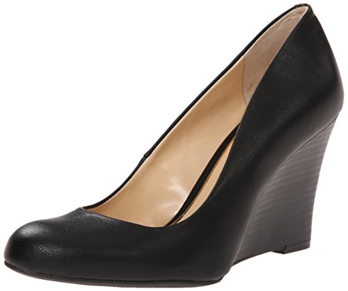 Jessica Simpson Women's Cash Wedge Pump,Black Patent, 7.5 M US
