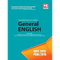 2019 Gate General English Previous Year SP