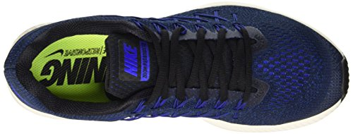 Nike Mens Air Zoom Pegasus 32 Running Shoe Black/Racer Blue-deep Royal Blue dB58hIBG