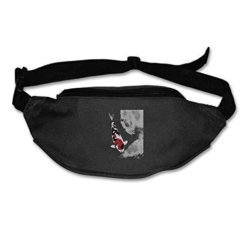 Waist Bag Fanny Pack Koi Fish Pouch Running Belt Travel Pocket Outdoor Sports