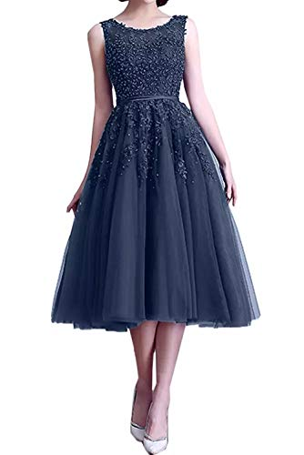 Blau Gruen Pailletten La Linie Marie Spitze Dunkel U Ausschnitt Rock A Partykleider Braut Abendkleider Promkleider Navy Wadenlang wxqt0qaTBn