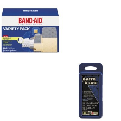 kitepix616joj4711-value-kit-x-acto-16-bulk-pack-blades-for-x-acto-knives-epix616-and-band-aid-sheer-