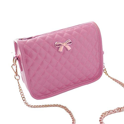 Lantusi Women's Pink Cross Purse Body Handbag Colors 5 Chain Synthetic Leather rrWn7AqT