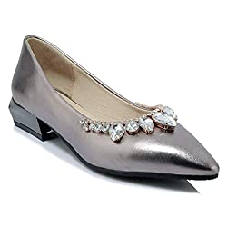 Classic Rhinestone Pointed Toe Flat Ballet Shoes