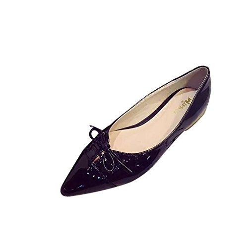 Primavera asakuchi puntiagudos pisos/Zapatos planos de proa A