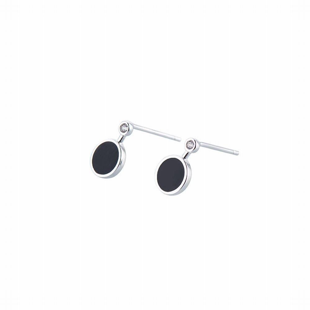 Ling Studs Earrings Hypoallergenic Cartilage Ear Piercing Simple Fashion Earrings Ear Jewelry Geometric Earrings 925 Silver Short Earrings Vintage Black by Ling (Image #1)