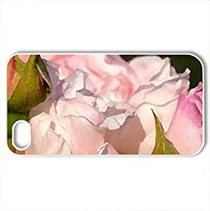 Beautiful Roses - Case Cover for iPhone 4 and 4s (Flowers Series, Watercolor style, White)