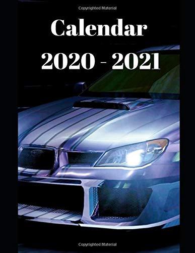 Subaru Impreza Calendar 2020 2021: Weekly Planner Calendar 2020