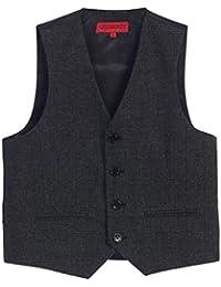 Boy's Plaid Formal Suit Vest