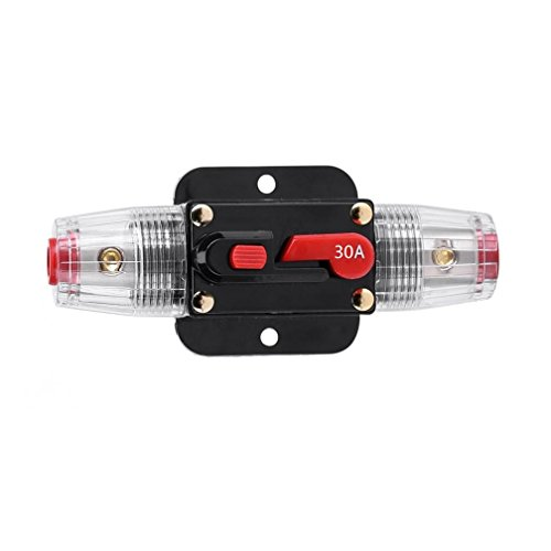 STETION Car Audio 30 Amp Resettable Fuse Circuit Breaker Car Protect for Audio System Fuse 12-24V DC for Car Audio Amps Overload Protection Fuse -