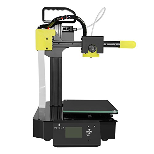 Prizma E-Carry Experimental 3D Printer With Cartesian Structure Fused Deposition Modeling (FDM) – Includes Micro SD Card, Sample PLA Filament, And Auto-Leveling Feature For Accurate Prints