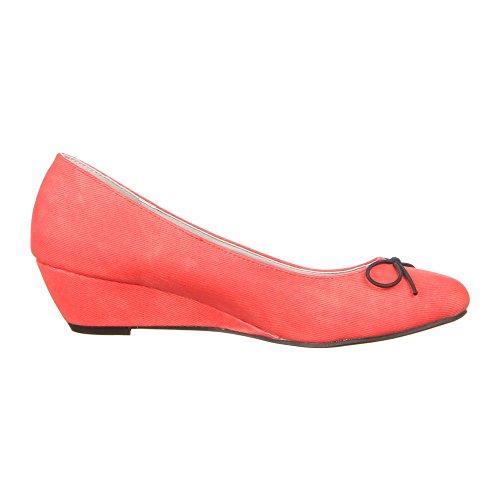 Ital-Design - Zapatos de vestir de Material Sintético para mujer Rojo - rojo