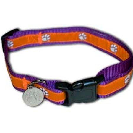 Hunter MFG Clemson Tigers Premium adjustable nylon Dog Collar - Small