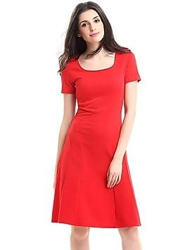 JIALE3536 Vestido Fiesta Mujer,De Fiesta La Mujer Viste Una Línea Plus Size,S