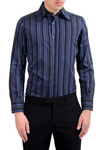 Dolce & Gabbana Men's Striped Long Sleeve Dress Shirt US 15 IT 38