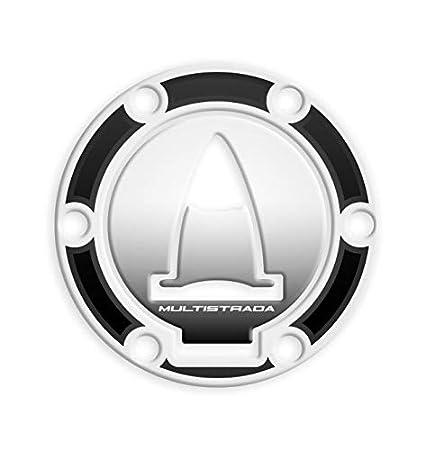 M White PROTEZIONE TAPPO BENZINA DUCATI MULTISTRADA 1200//950 GP-309