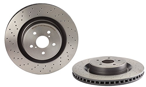 Brembo Front Rotors - Brembo 09.A300.11 UV Coated Front Disc Brake Rotor