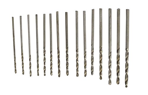 SE 82616MD High Speed Steel Drill Bit Set, 1.05 to 2 mm (15 PC.) (Jewelers Casting Sand)