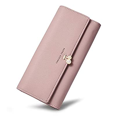 Wallets for Women Leather Designer Trifold Clutch Credit Card Holder Organizer Ladies Purse