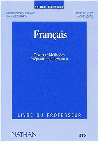 Amazon Fr Francais Textes Et Methodes Bts Professeur