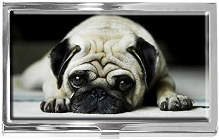 Hond Business Card Case RVS Naam ID Kaarthouder Portemonnee Mode Ontwerp voor Mannen Vrouwen