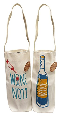 Earthwise Cotton Canvas Reusable Wine Gift Bag Tote Made in the USA (4 pack)