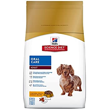 Hill's Science Diet Adult Oral Care Chicken Rice & Barley Recipe Dry Dog Food, 4-Pound Bag