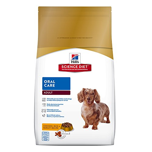 Hill's Science Diet Adult Oral Care Dog Food, Chicken Rice & Barley Recipe Dry Dog Food for dental health, 28.5 lb Bag by Hill's Science Diet