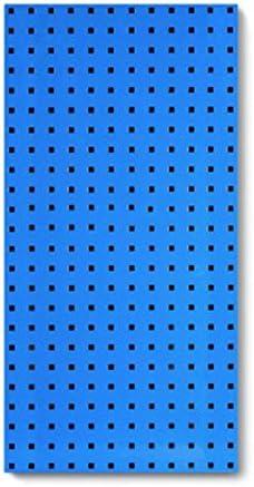 パンチングボード 有孔ボード 壁はDIYガレージ工具収納パネルはワークショップホームシェッドラックマウント ガレージ/自動車修理店/庭用 (Color : Blue, Size : 90x45cm)
