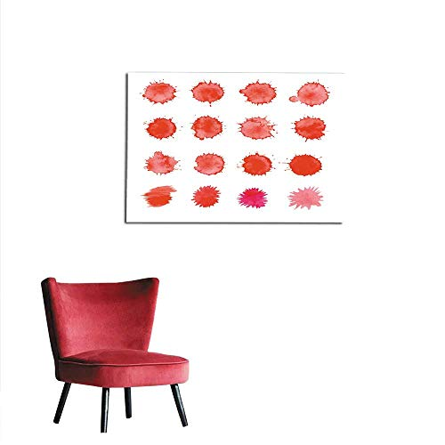 homehot Painting Post Abstract red Ink Splatter Background Dripping Blood Set Mural -