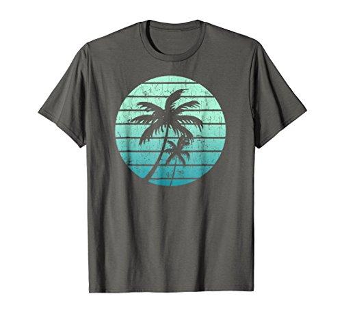 Vintage beach Retro California palm trees Tropical t shirt