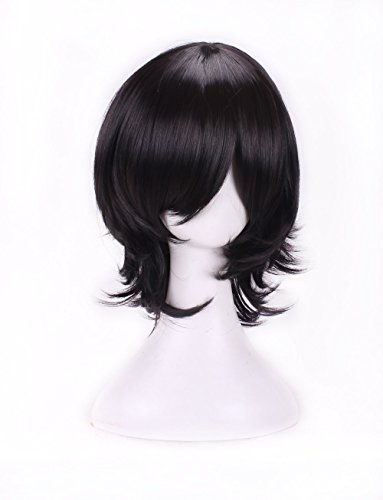 AneShe Mens Short Layered Hair Anime Cosplay Wig Party Wig