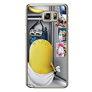 Loud Universe Samsung Galaxy Note 5 Files Minion 4 Printed Transparent Edge Case - Multi Color