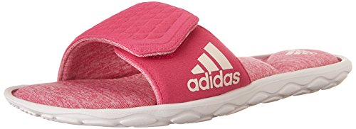 Adidas Fit Foam (adidas Performance Women's Anyanda Flex Slide W Athletic Sandal,White/Pink/Pink,10 M)