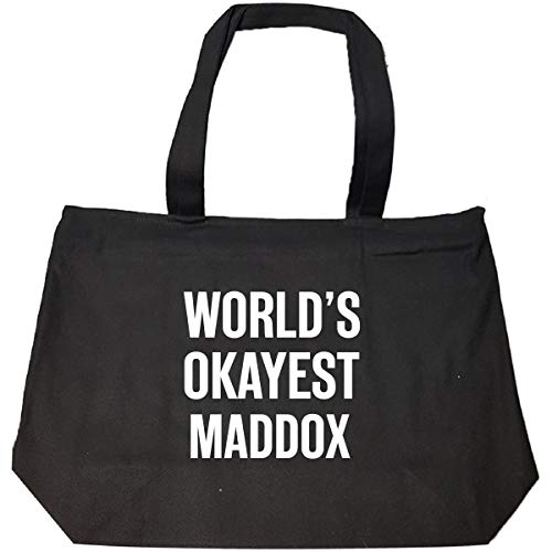 World's Okayest Maddox Funny Gift For Maddox - Tote Bag With Zip