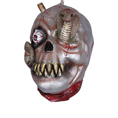 TOYANDONA Halloween Ghost Head Props Hanging Thriller Bloody Screaming Head Ornament for Haunted Houses Party Horror Festive Decor (Mixed Pattern)]()