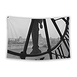 Gear New Wall Tapestry For Bedroom Hanging Art Decor College Dorm Bohemian, Vintage Clock, 104x88