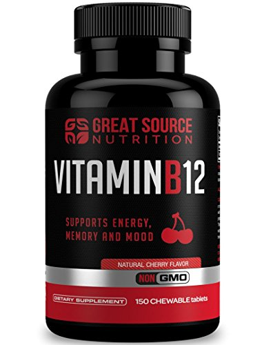 Vitamin B12 Methylcobalamin 1000mcg, 150 Tablets - Energy Booster, Cardiovascular Support, Digestive System Support, Boosts Metabolism