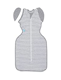 Love To Dream Swaddle UP- 50/50- Gray Stripe- Medium 13.2- 18.7 lbs BOBEBE Online Baby Store From New York to Miami and Los Angeles