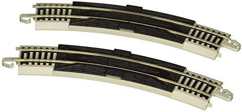 """2//card - NICKEL SILVER Rail With Gray Roadbed HO Scale Snap-Fit E-Z TRACK 18/"""" RADIUS CURVED RERAILER Bachmann Trains"""