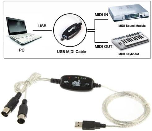 USB MIDI Cable Adaptador para teclado musical para PC ...