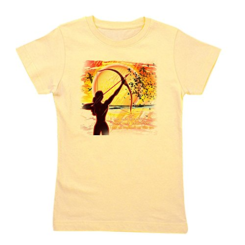 CafePress - Katniss Quote. I Am Not Pretty....The H - Girl's Cotton T-shirt, Cute Slim Fit Girl's Shirt