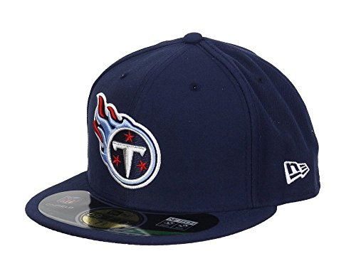NFL Tenessee Titans On Field 5950 Game Cap, Navy, 7 7/8 (Tennessee Titans Fitted Hat)