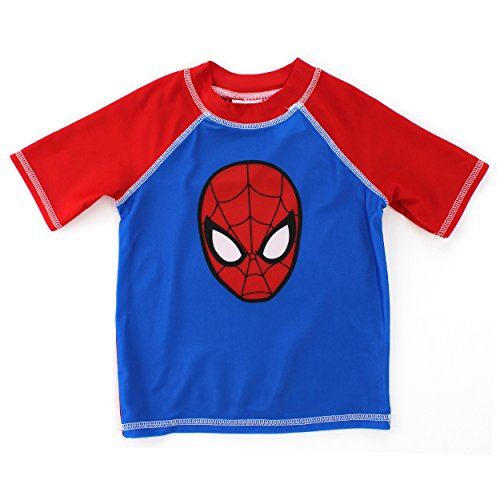 Spider-Man Boys Swimwear (2T, Blue Spider Rash Guard)
